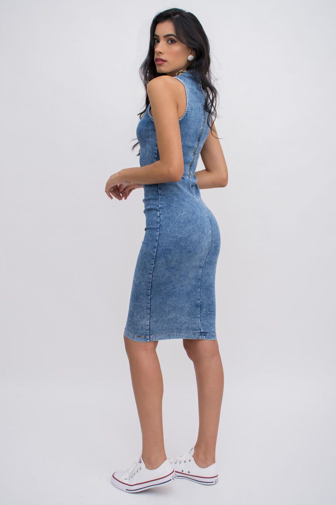 Vestido Midi Slywear Jeans