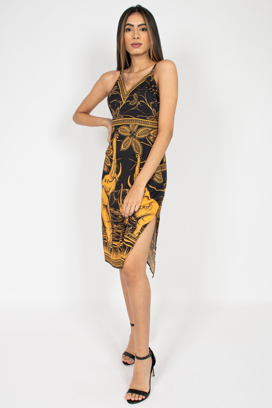 Vestido Midi Sommer Elefantes