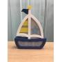 Luminária Abajur Barco de Mesa com Led Com ou Sem Fio