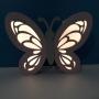 Luminária Abajur Borboleta com Strass com Led Com ou Sem Fio