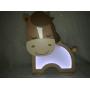Luminária Abajur Cavalinho De Mesa Com Led Com ou Sem Fio