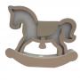 Luminária Abajur Cavalo de Mesa com Led Com ou Sem Fio