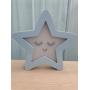 Luminária Abajur Estrela de Mesa com Led Com ou Sem Fio