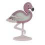 Luminária Abajur Flamingo de Mesa com Led Com ou Sem Fio