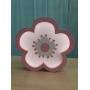 Luminária Abajur Flor de Mesa com Led Com ou Sem Fio