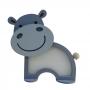 Luminária Abajur Hipopótamo De Mesa Com Led Com ou Sem Fio
