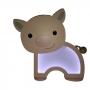 Luminária Abajur Porquinho De Mesa Com Led Com ou Sem Fio