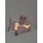 Luminária Abajur Ursinha Aviadora de Mesa com Led Com ou Sem Fio