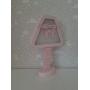 Luminária de Mesa em Formato de Abajur com Led Com ou Sem Fio