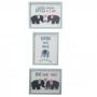 Trio de Quadros Elefantinho Cor Azul