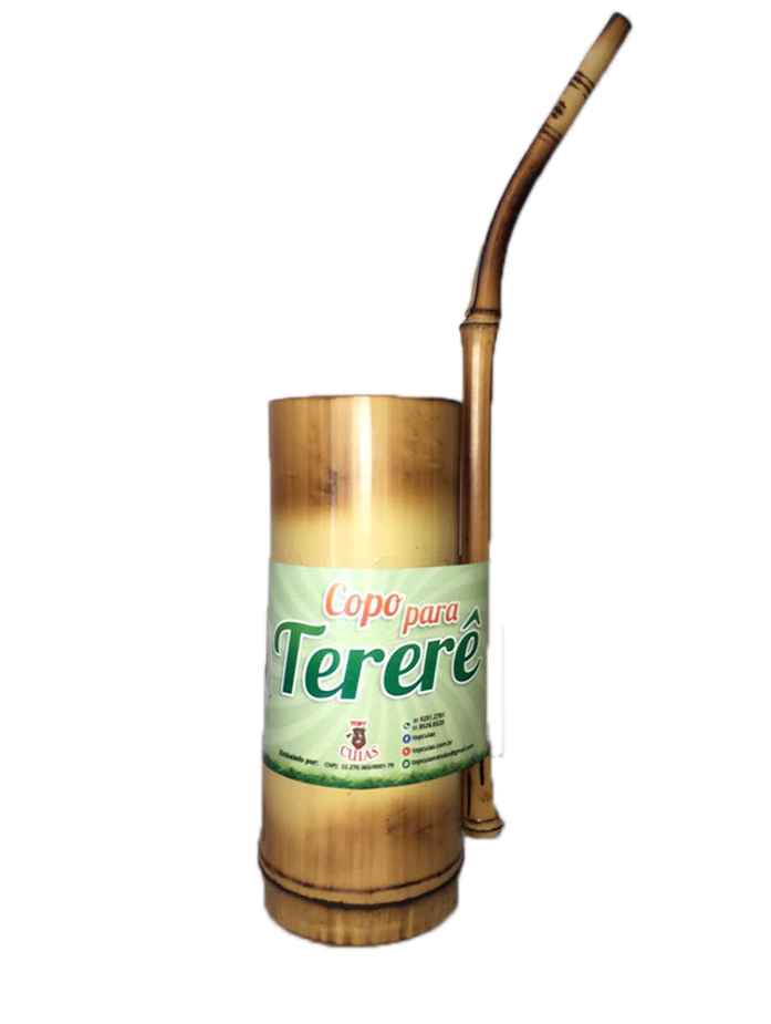 10 unidades Kit Tereré bomba e cuia bambu Atacado