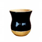 Cuia Madeira bicolor imbuia preta