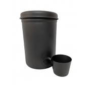 Porta Erva Mate e concha de Lata All Black 750 g