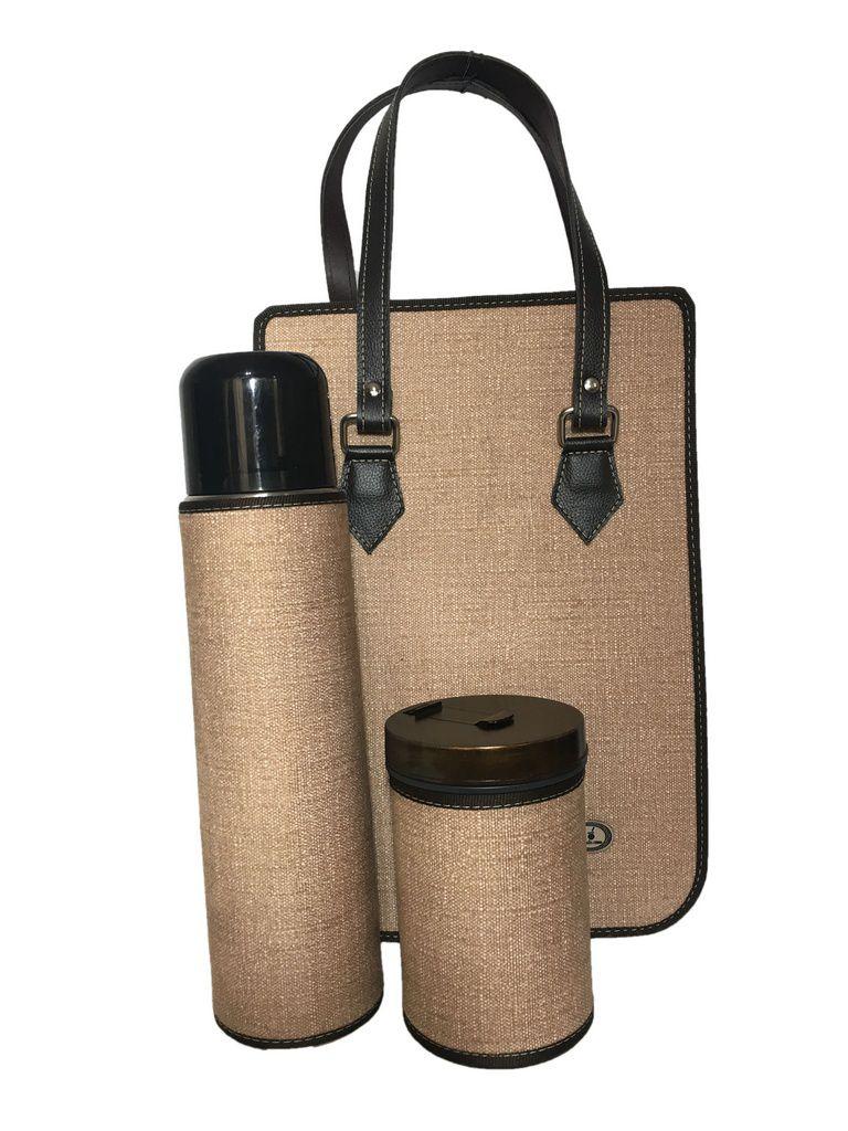 Bolsa de chimarrão com Garrafa Térmica 1 Litro e porta erva