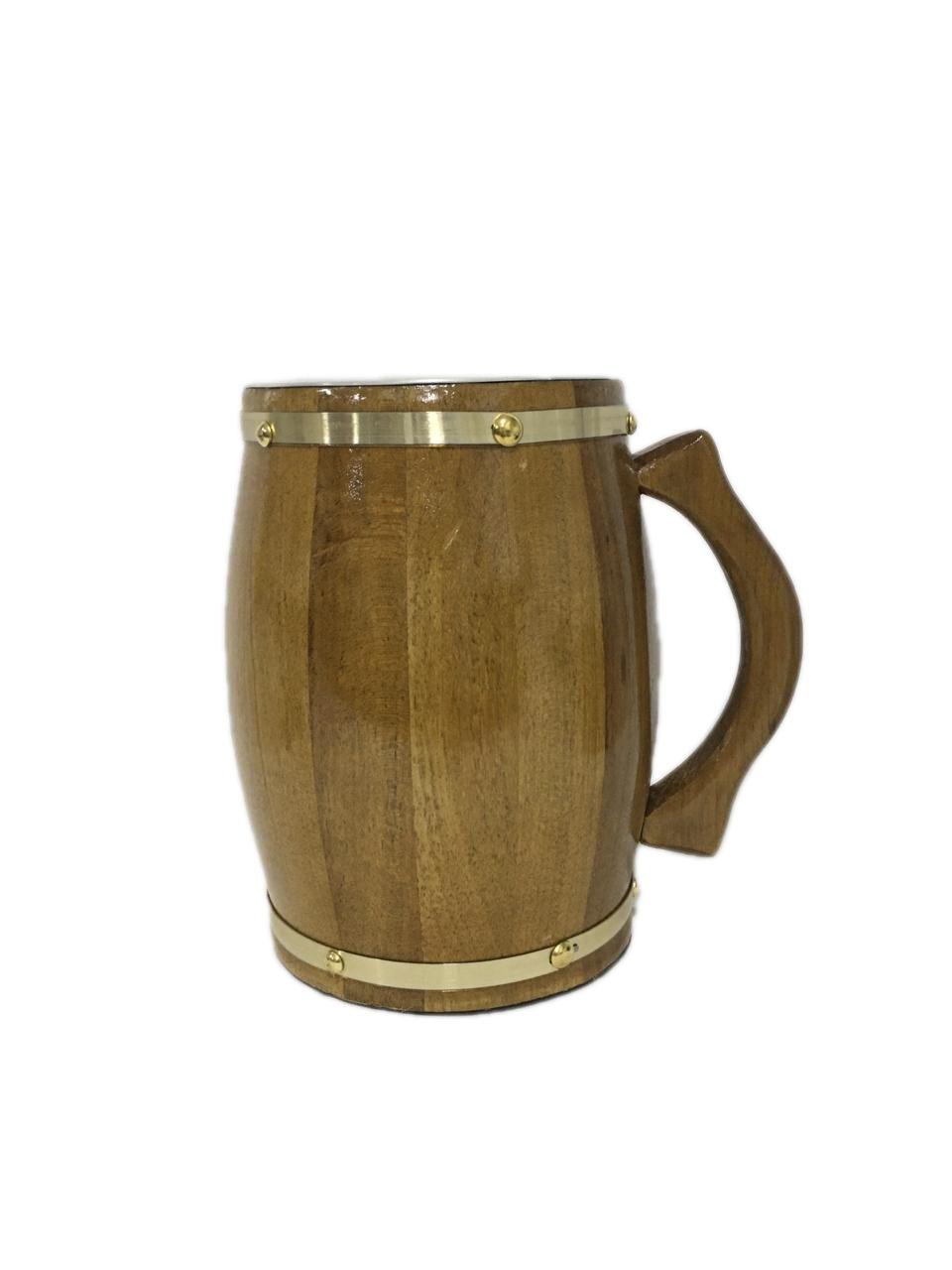 Caneca Artesanal de Madeira Cerejeira 2 Litros Chopp Cerveja