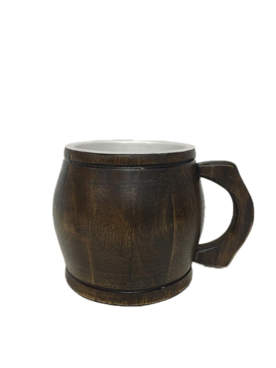 Caneca Artesanal de Madeira Rústica 1 Litro Chopp Cerveja