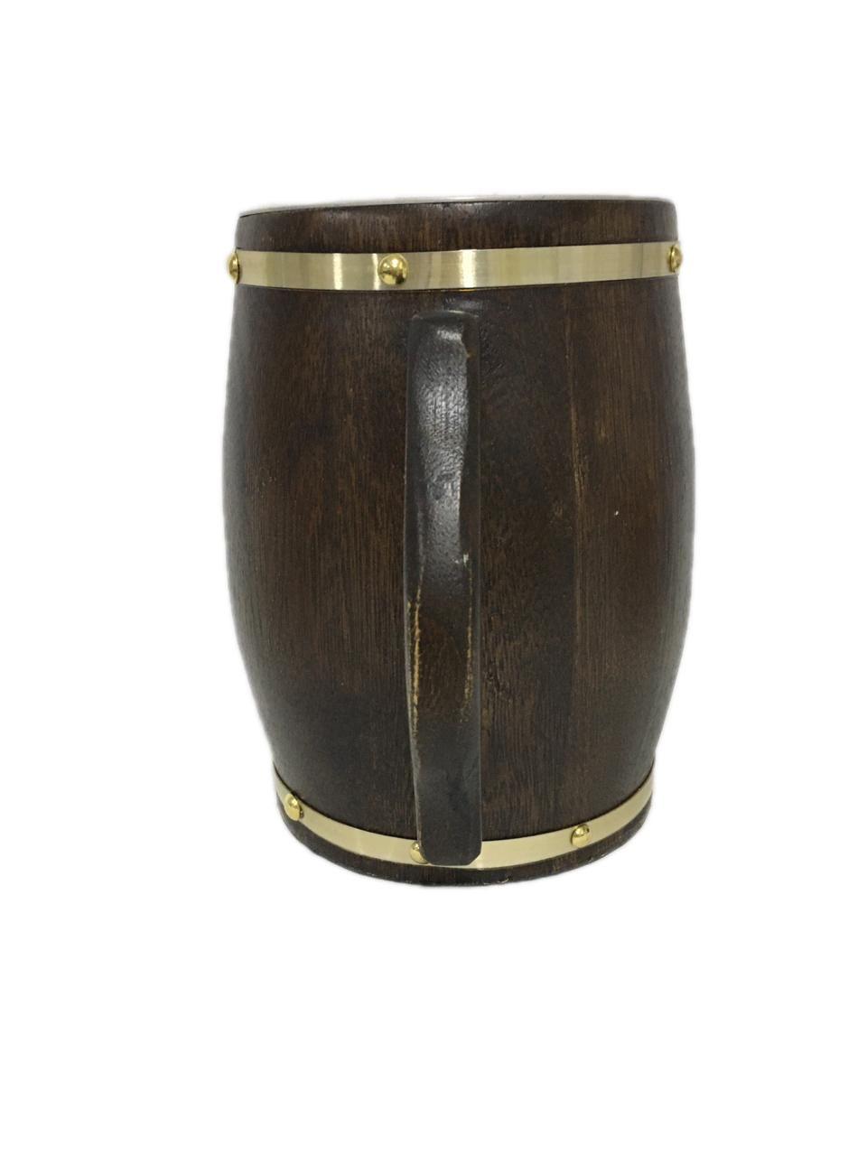 Caneca Artesanal de Madeira Rústica 2 Litros Chopp Cerveja