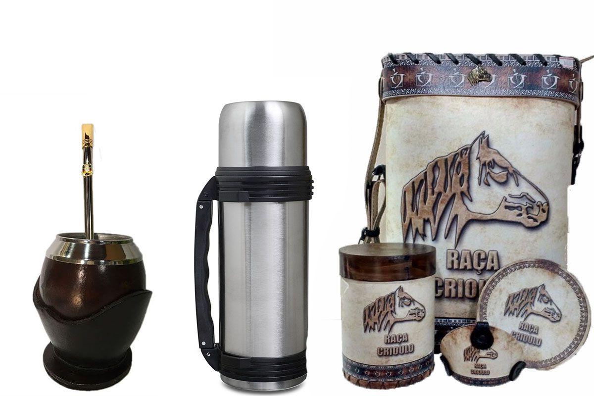 Conjunto chimarrão 1 litro Uruguaio completo - Premium