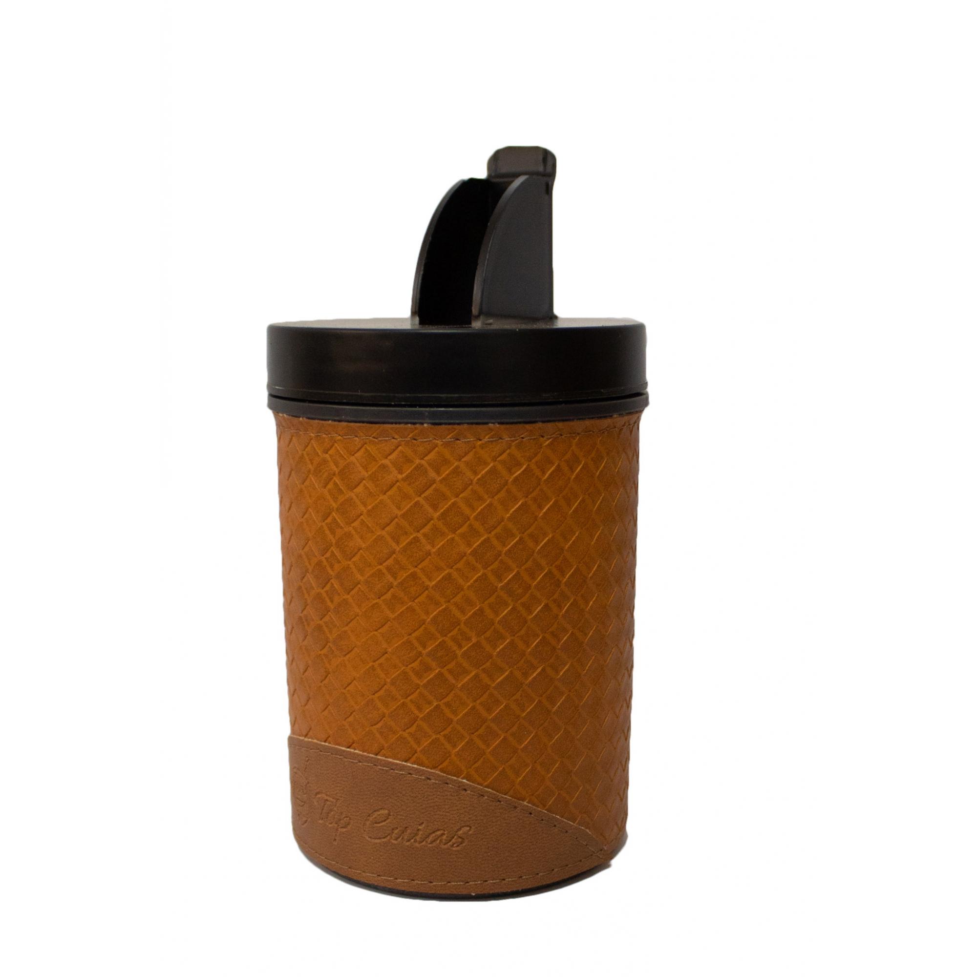 Conjunto chimarrão mateira trançada fechada 1 Litro, térmica, cuia porongo clara, bomba inox e porta erva
