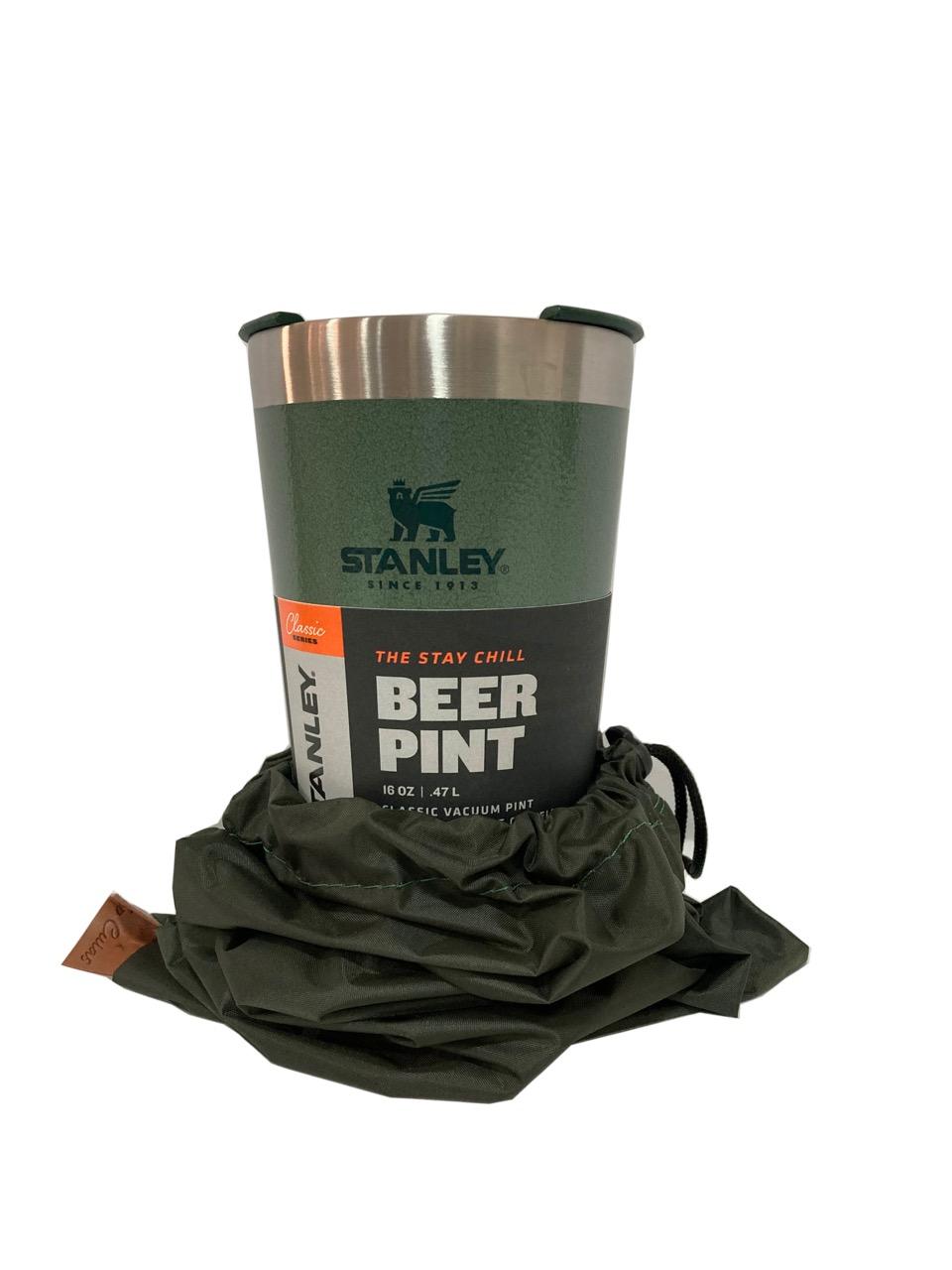 Copo Térmico Cerveja Verde Com Tampa e case 473ml Stanley