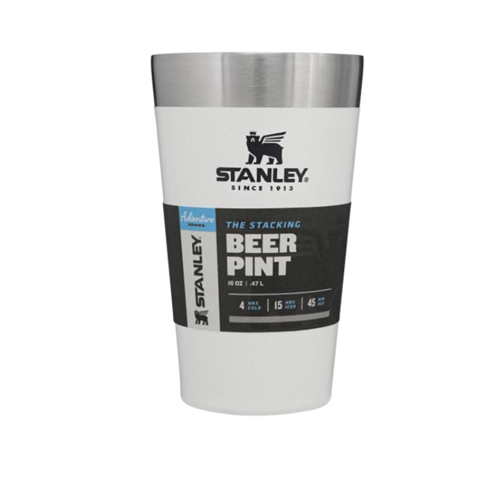 Copo Térmico de Cerveja Beer Pint Branco 473 ml Stanley Original Personalizado