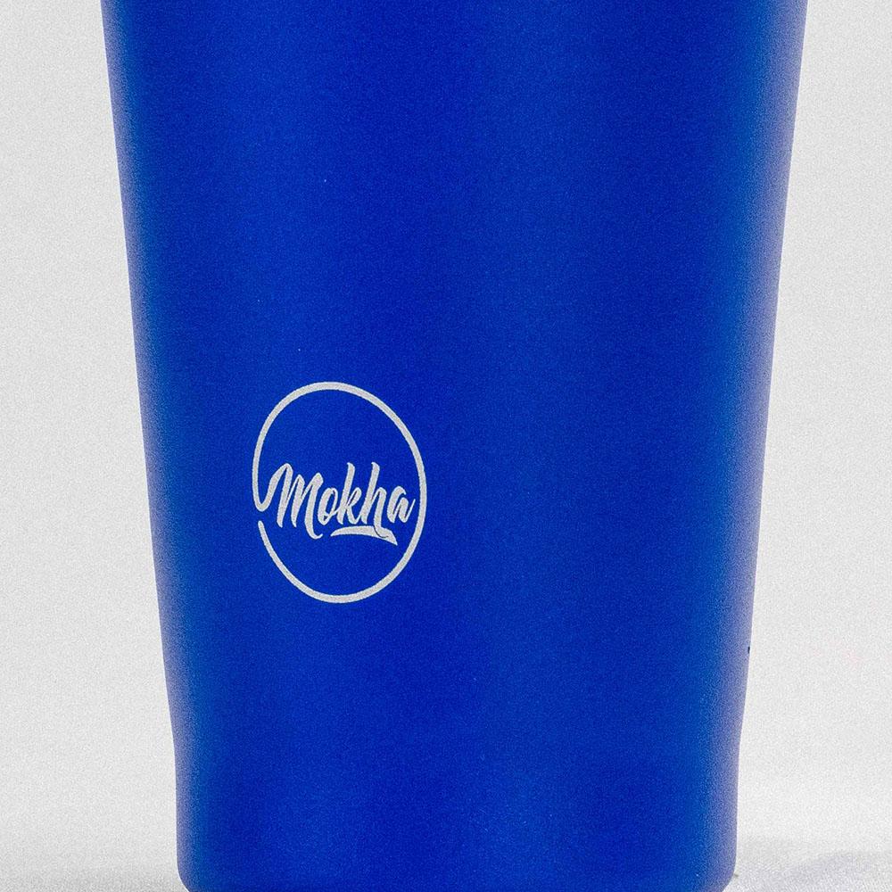 Copo Térmico Magic Beer 473ML Pownder Coating Black - Azul