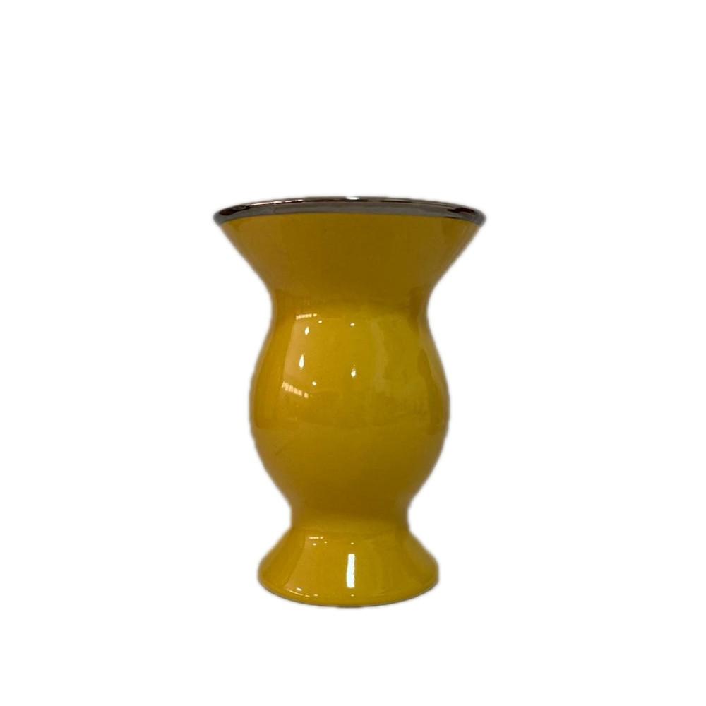 Cuia cerâmica Amarela e Bomba de Vidro + Filtro Brinde