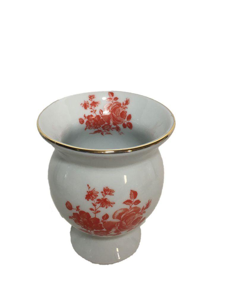 Cuia cerâmica flores Vermelhas