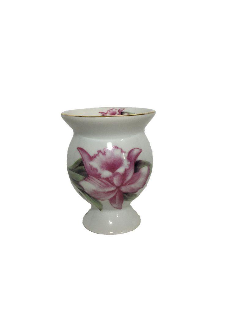 Cuia cerâmica flores Orquídea