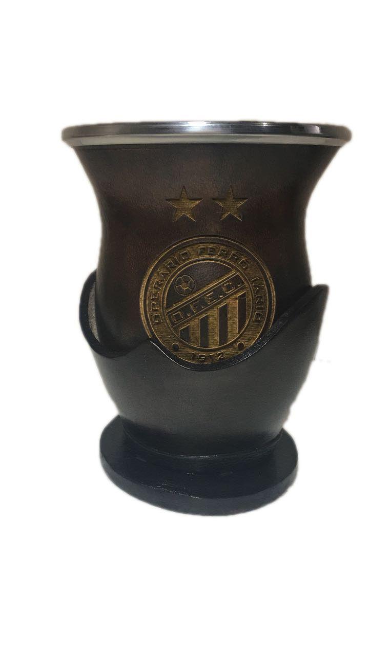 Cuia personalizada com sua logo Uruguaia bocal inox