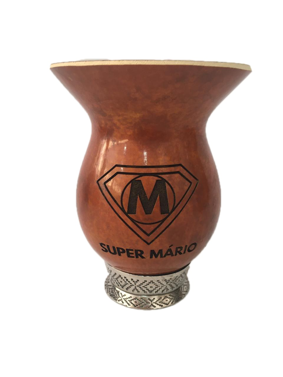 Cuia porongo pé metal personalizada com sua logo