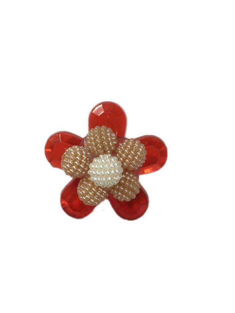 Enfeite de chimarrão flor vermelha