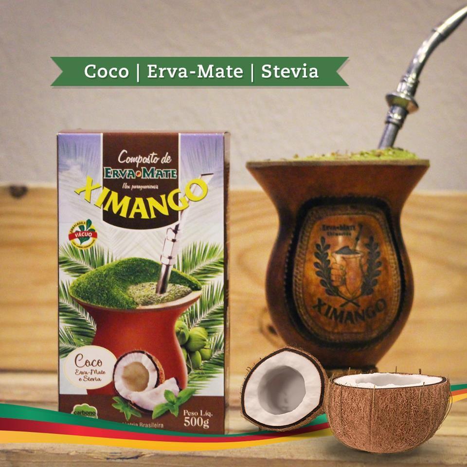 Erva mate Ximango Côco e Stevia 500 g
