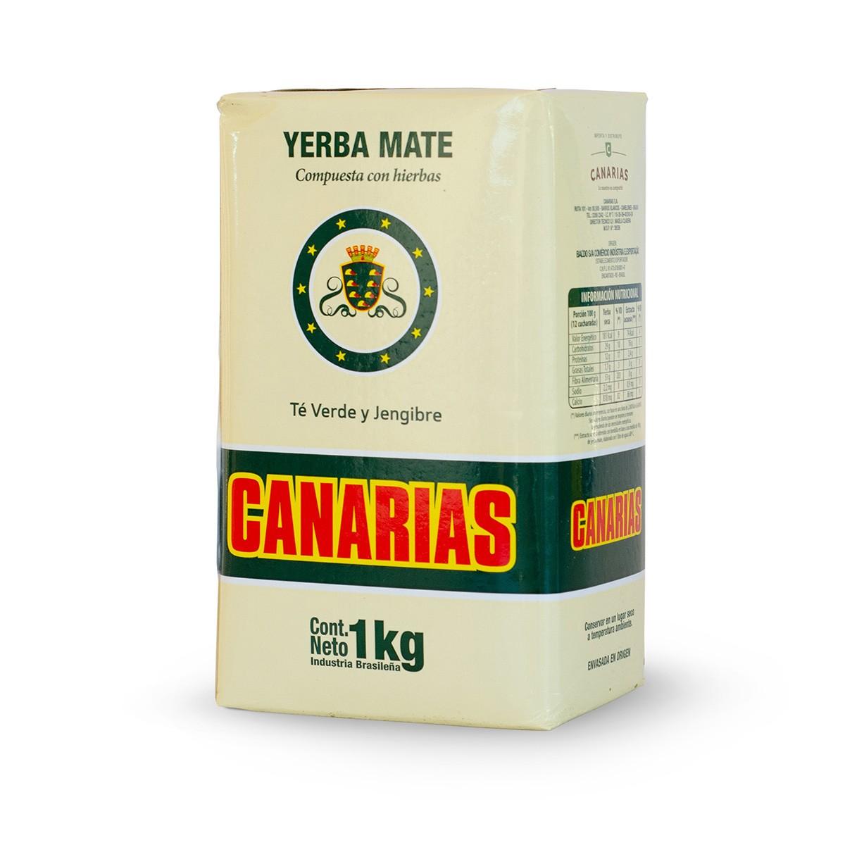 Erva Mate Yerba Mate Chimarrão Uruguaia Canarias Té Verde Y Jengibre 1 Kg