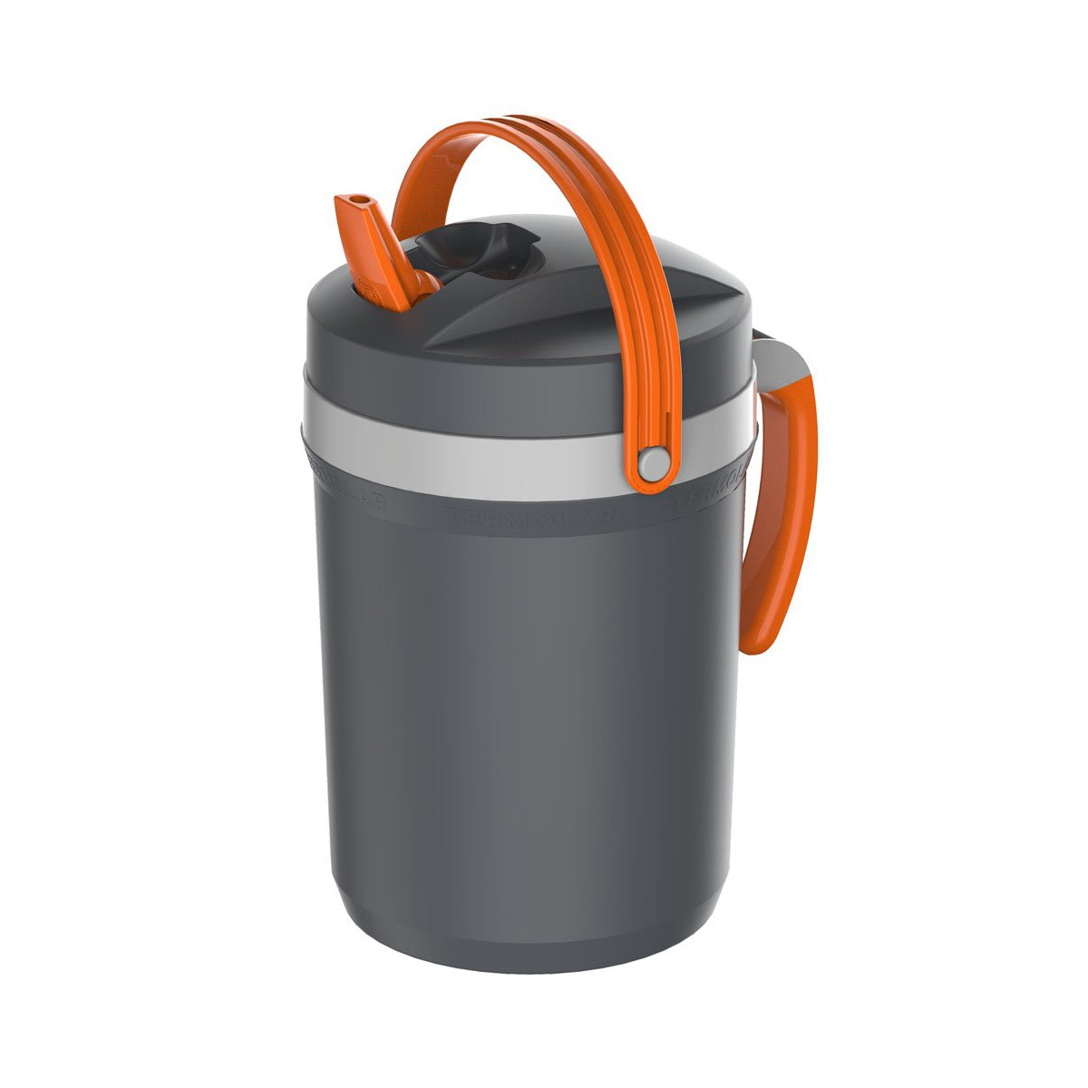Garrafa Jarra Térmica Fliptop Termolar Cinza 2,5 Litros