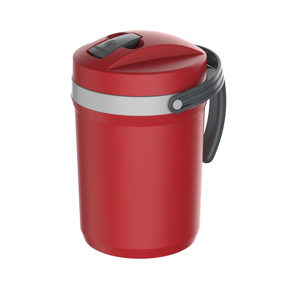 Garrafa Jarra Térmica Fliptop Termolar Vermelha 2,5 Litros