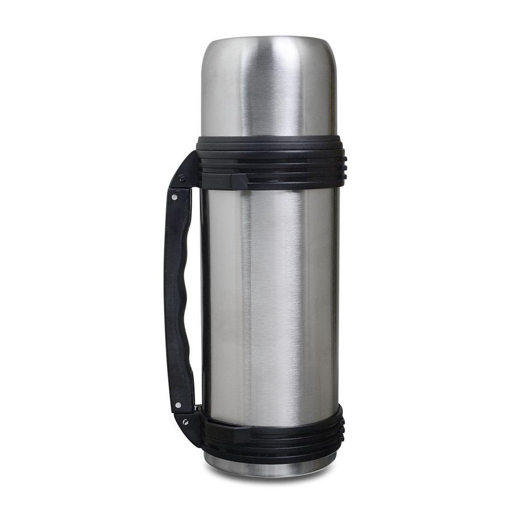 Garrafa Térmica Mokha 1 Litro aço inox prata