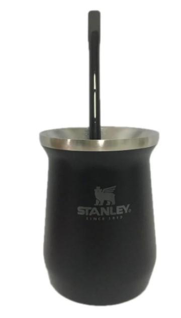 Kit Chimarrão All Black Stanley Original Cuia Garrafa e Bomba
