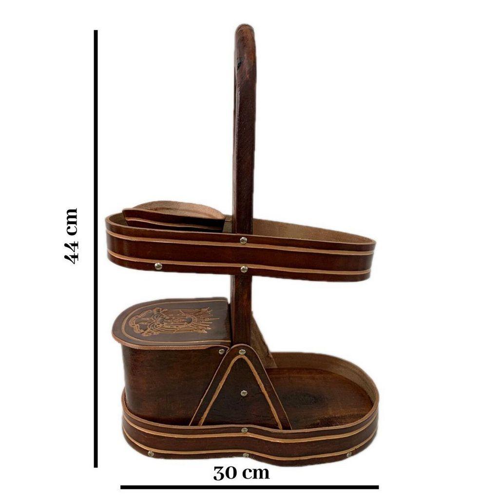 Kit Chimarrão mateira de madeira e couro e cuia de madeira