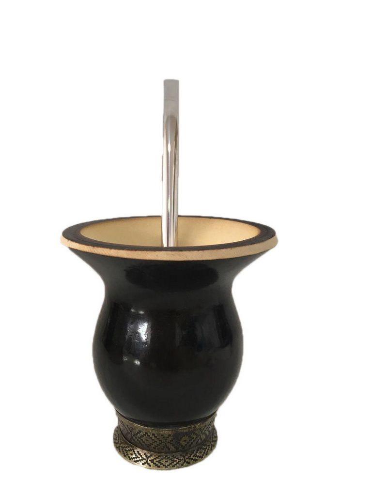 Kit chimarrão personalizado com sua arte cuia preta e bomba inox