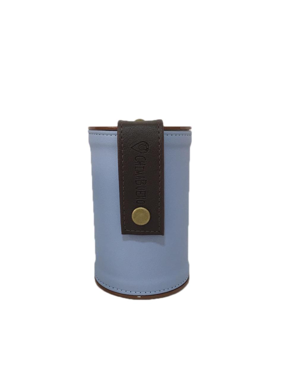 Kit Mateira Tecido Tie Dye 2 Litros e Porta erva azul