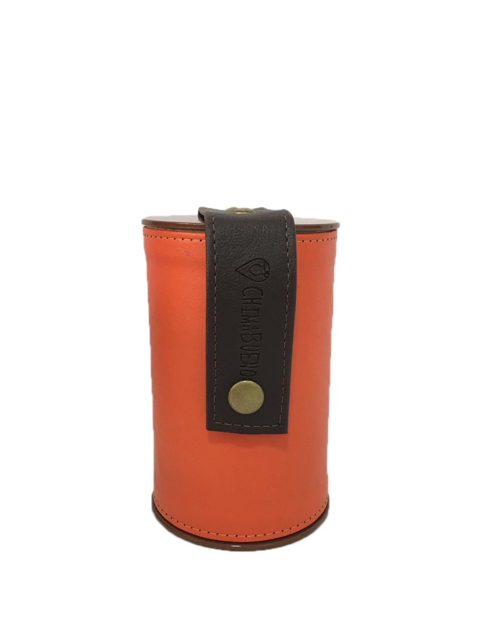 Kit Mateira Tecido Tie Dye 2 Litros e Porta erva laranja