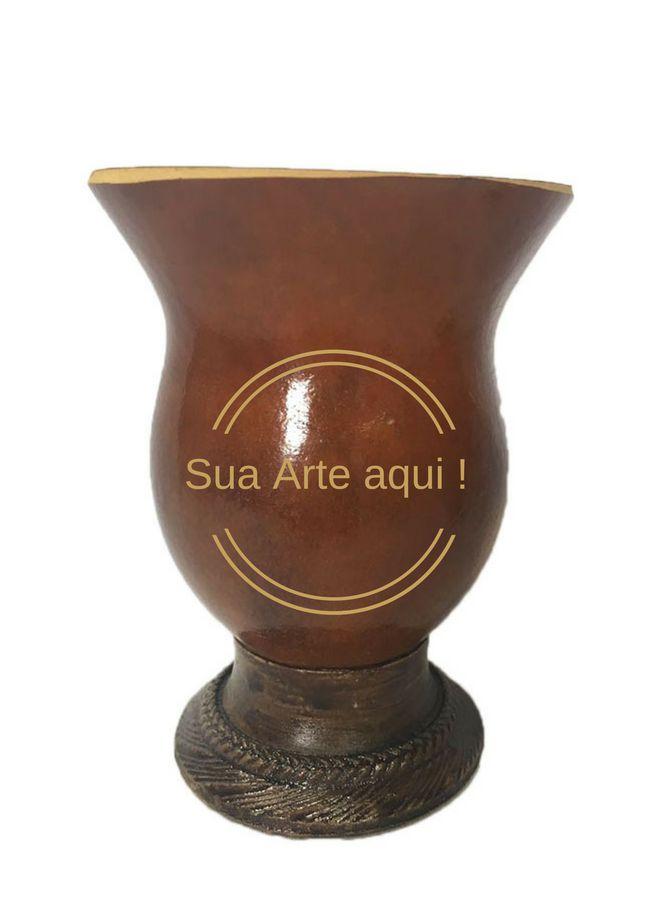 Kit Chimarrão personalizado Cuia porongo e Bomba inox