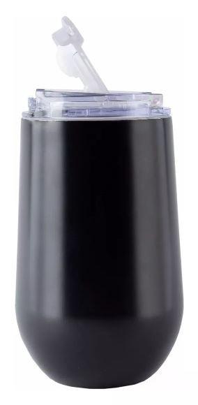 Kit tereré Copo Belli Preto 450 ml e Bomba Al. Anodizado Preta