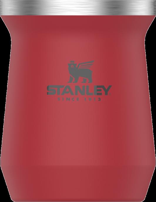 kit vermelha mateira Buenos Aires Argentina 1 L, porta erva, bomba inox, cuia e térmica Stanley