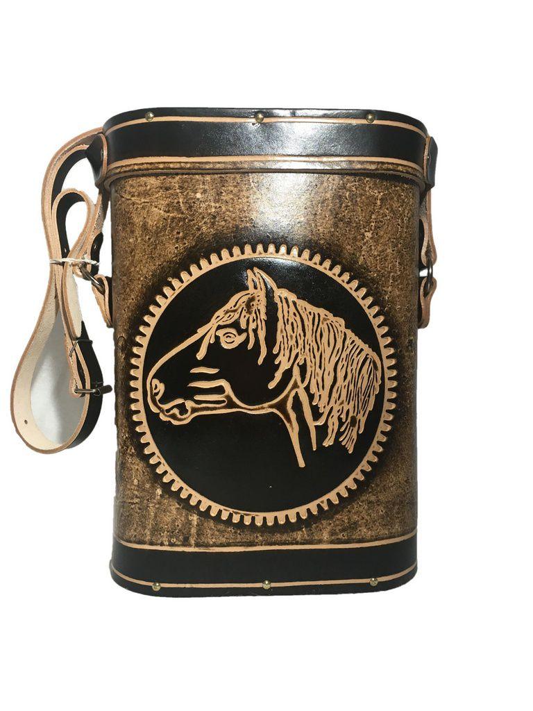 Mateira Chimarrão couro 1 Litro cavalo