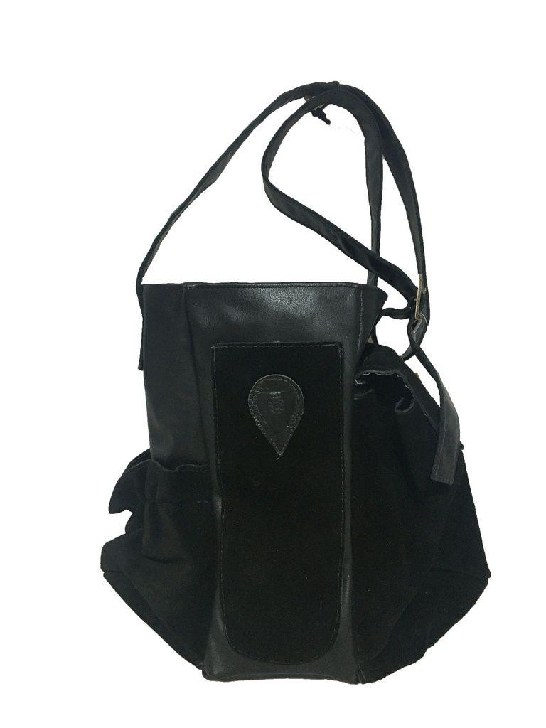 Mateira Chimarrão estilo aberta em couro 1 litro preta