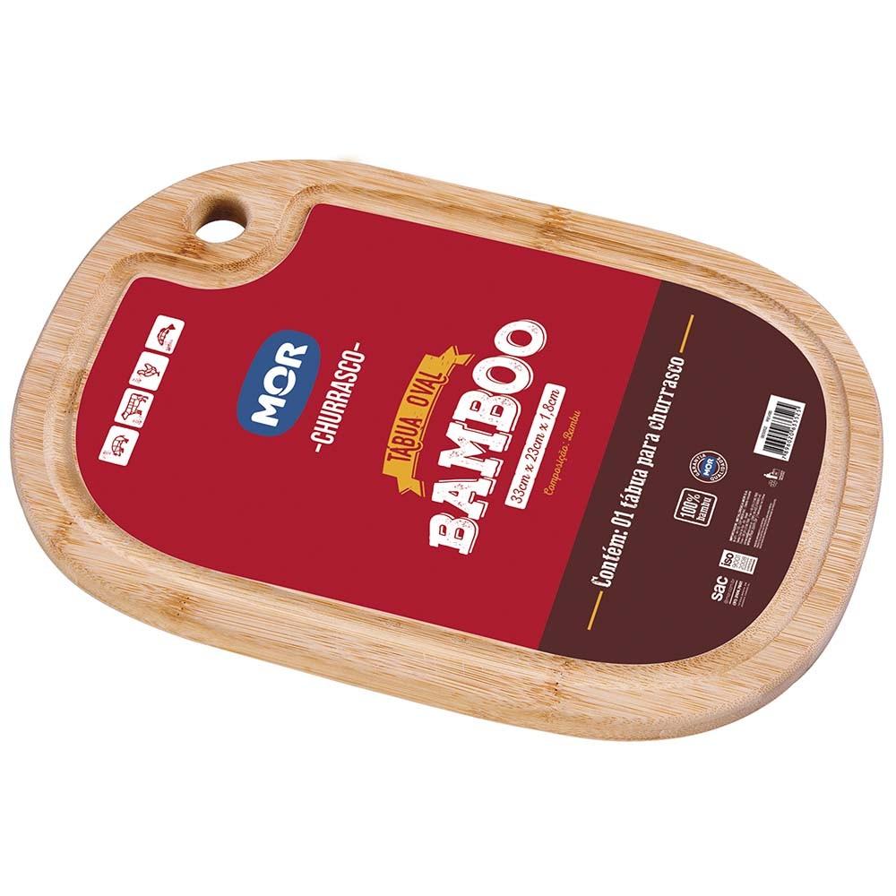 Tabua Personalizada para Churrasco Oval Bamboo 33x 23
