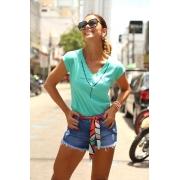 short Jeans com Faixa Cód:14940