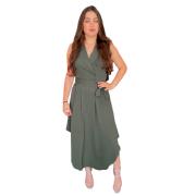 Vestido Boleado sem Manga Cód:15289